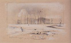 Village of Pokrovskoye-Fili | Alexei Kondratyevich Savrasov | Oil Painting