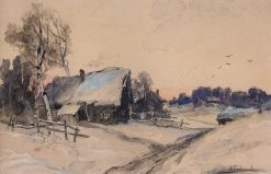 Village in Winter | Alexei Kondratyevich Savrasov | Oil Painting