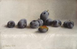 Twelve Plums | Joseph Decker | Oil Painting