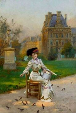Morning in the Tuileries | Basile Lemeunier | Oil Painting