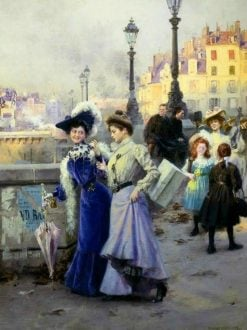 Shopping in Paris | Basile Lemeunier | Oil Painting