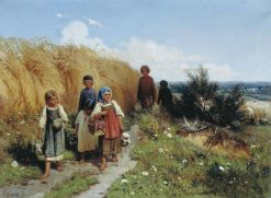 Children Carrying Lunch to Harvesters | Aleksei Danilovich Kivshenko | Oil Painting