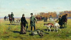 Captured Wolf | Aleksei Danilovich Kivshenko | Oil Painting