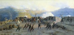 The Battle at Shipka | Aleksei Danilovich Kivshenko | Oil Painting