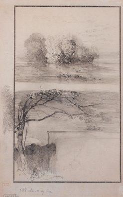 Trees by the Waters Edge   Alexei Kondratyevich Savrasov   Oil Painting
