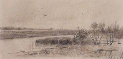 A Small River | Alexei Kondratyevich Savrasov | Oil Painting