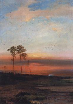 Sunset | Alexei Kondratyevich Savrasov | Oil Painting