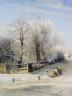 Winter in Moscow | Alexei Kondratyevich Savrasov | Oil Painting