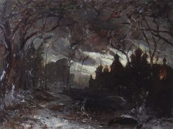 Ipatiev Monastery on a Winter Night | Alexei Kondratyevich Savrasov | Oil Painting