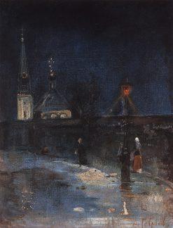 Frosty Night | Alexei Kondratyevich Savrasov | Oil Painting