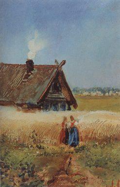Kutuzovs House in Fili | Alexei Kondratyevich Savrasov | Oil Painting