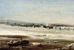 Floating Ice on the Volga | Alexei Kondratyevich Savrasov | Oil Painting