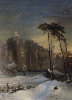 Forest in Winter | Alexei Kondratyevich Savrasov | Oil Painting
