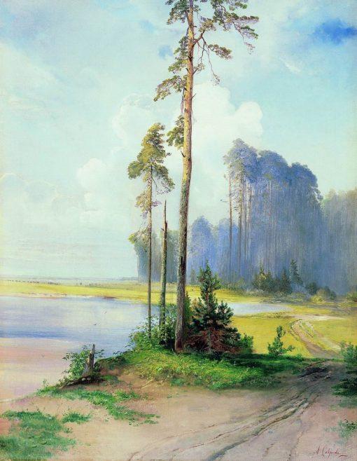 Summer Landscape   Alexei Kondratyevich Savrasov   Oil Painting