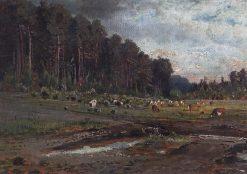 Elk Island   Alexei Kondratyevich Savrasov   Oil Painting