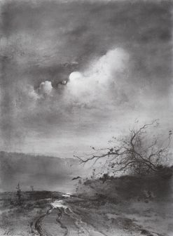 A Moonlit Night | Alexei Kondratyevich Savrasov | Oil Painting