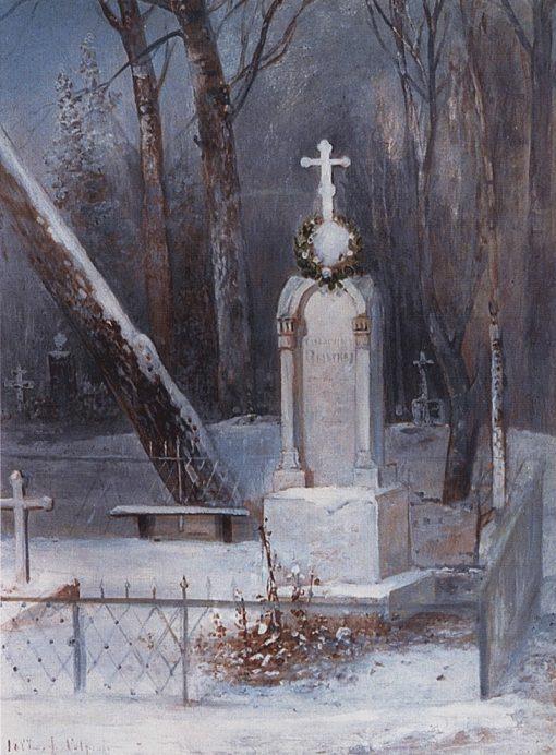 A Tomb | Alexei Kondratyevich Savrasov | Oil Painting