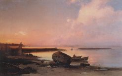The Seashore near Oranienbaum | Alexei Kondratyevich Savrasov | Oil Painting