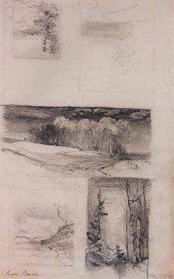 Landscape Studies | Alexei Kondratyevich Savrasov | Oil Painting