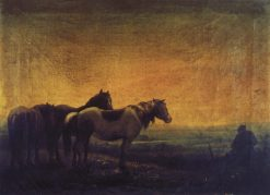 Night   Alexei Kondratyevich Savrasov   Oil Painting