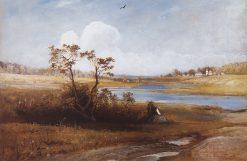 Landscape in the Pskov Region | Alexei Kondratyevich Savrasov | Oil Painting