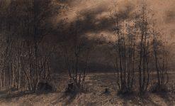 Autumn Night | Alexei Kondratyevich Savrasov | Oil Painting