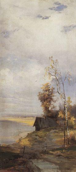 Landscape with a Hut   Alexei Kondratyevich Savrasov   Oil Painting