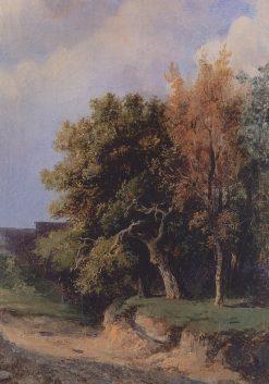 Landscape with a Road   Alexei Kondratyevich Savrasov   Oil Painting
