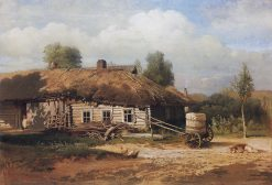 Landscape with a Cottage | Alexei Kondratyevich Savrasov | Oil Painting