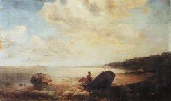 Landscape with a Boat | Alexei Kondratyevich Savrasov | Oil Painting