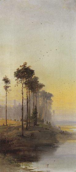 Landscape with Pines   Alexei Kondratyevich Savrasov   Oil Painting