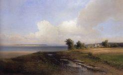 Volga Bank | Alexei Kondratyevich Savrasov | Oil Painting