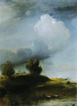 After a Thunderstorm   Alexei Kondratyevich Savrasov   Oil Painting