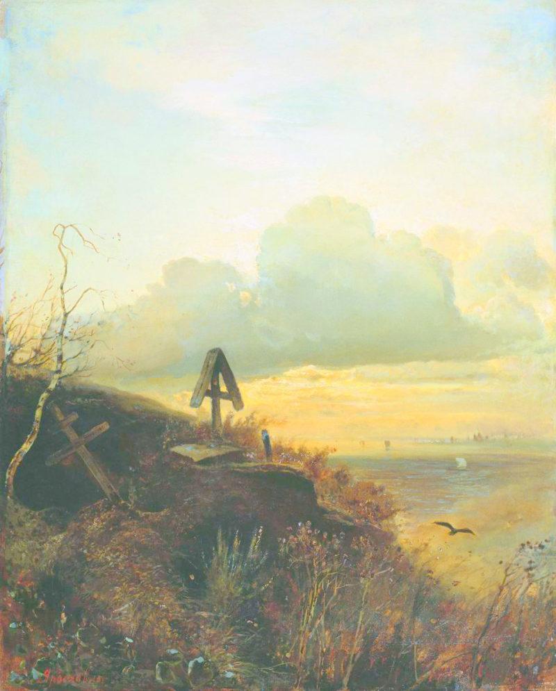 A Tomb on the Volga | Alexei Kondratyevich Savrasov | Oil Painting