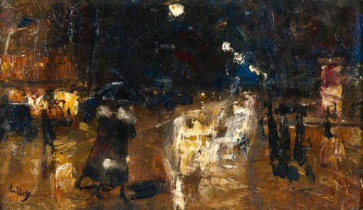 Rainy Berlin | Lesser Ury | Oil Painting