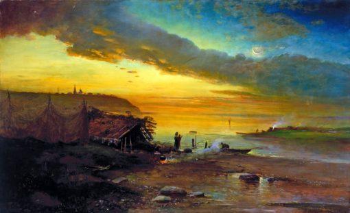 Early Morning on the Volga | Alexei Kondratyevich Savrasov | Oil Painting