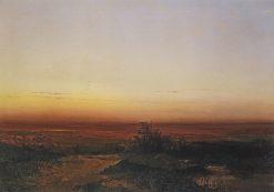 Sunrise in the Steppe | Alexei Kondratyevich Savrasov | Oil Painting