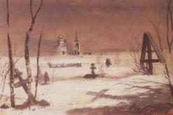 Graveyard | Alexei Kondratyevich Savrasov | Oil Painting