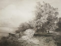 An Old Oak | Alexei Kondratyevich Savrasov | Oil Painting
