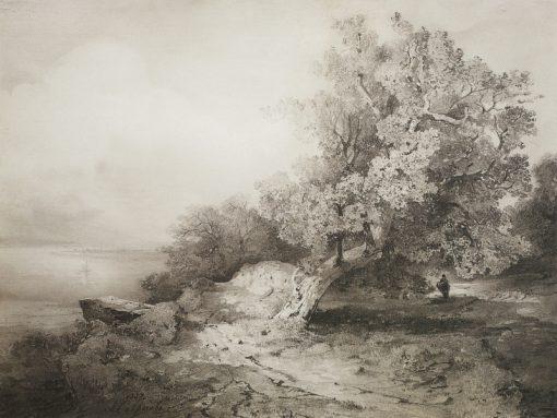 An Old Oak | Alexei Kondratyevich Savrasov | Oil Painting