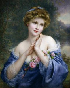 Lady in Blue | Francois Martin-Kavel | Oil Painting