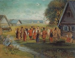 The Round Dance | Alexei Kondratyevich Savrasov | Oil Painting