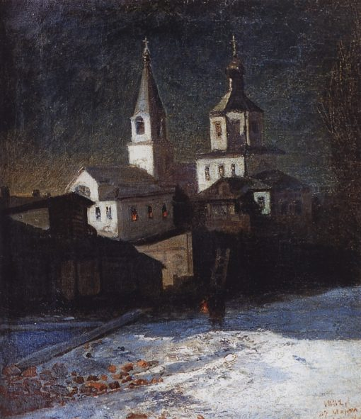 A Church in Moscow | Alexei Kondratyevich Savrasov | Oil Painting