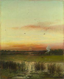 Evening Light | Alexei Kondratyevich Savrasov | Oil Painting