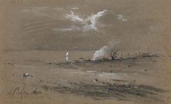 Fishermens Camp | Alexei Kondratyevich Savrasov | Oil Painting