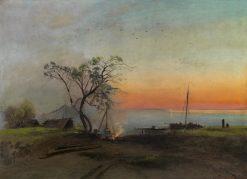 Fishermen on the Volga | Alexei Kondratyevich Savrasov | Oil Painting