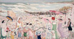 La grande plage a Biarritz | Jacqueline Marval | Oil Painting