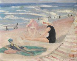 Bathers on the Beach in Biarritz | Jacqueline Marval | Oil Painting