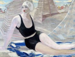 Bather In A Black Swimsuit | Jacqueline Marval | Oil Painting