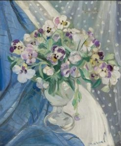 Pansies | Jacqueline Marval | Oil Painting